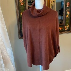 Loft Brown Poncho Sweater